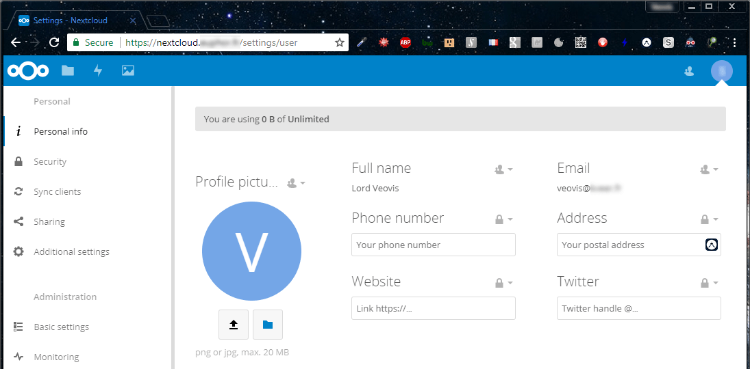 Nextcloud - Login via SSO